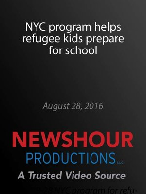 cover image of NYC program helps refugee kids prepare for school