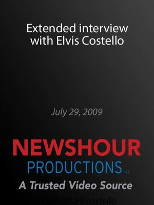 cover image of Extended interview with Elvis Costello