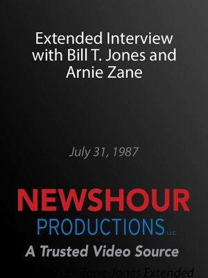 cover image of Extended Interview with Bill T. Jones and Arnie Zane