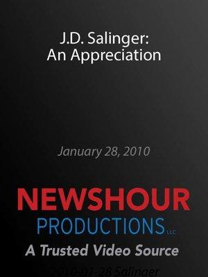 cover image of J.D. Salinger: An Appreciation
