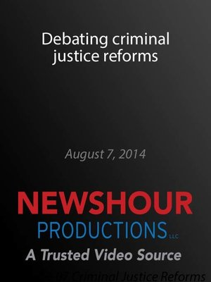 cover image of Debating criminal justice reforms