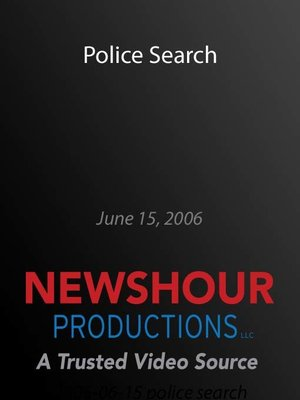 cover image of Police Search