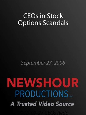 cover image of CEOs in Stock Options Scandals