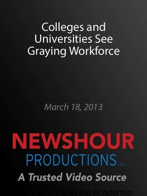 cover image of Colleges and Universities See Graying Workforce