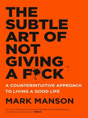 cover image of The Subtle Art of Not Giving a F*ck