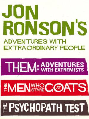 cover image of Jon Ronson's Adventures with Extraordinary People