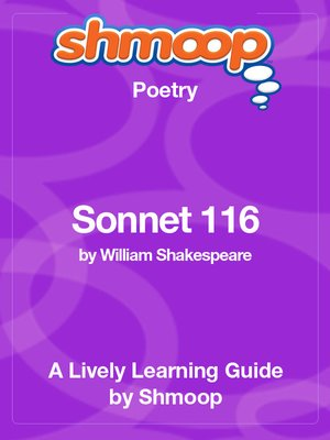 cover image of Sonnet 116