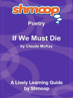 cover image of If We Must Die