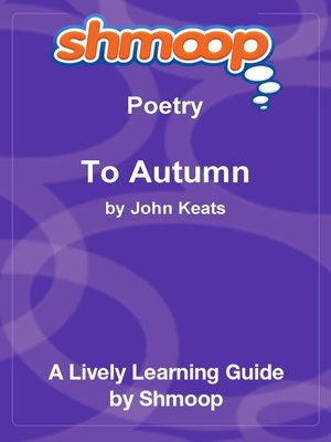 cover image of To Autumn