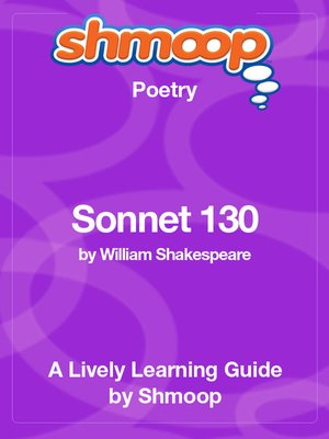 cover image of Sonnet 130