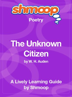cover image of The Unknown Citizen