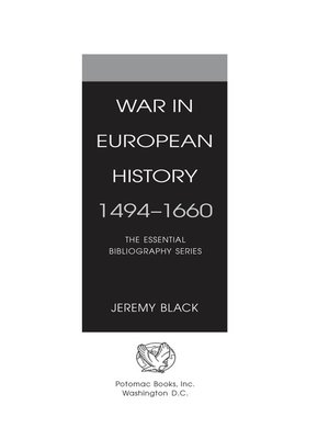 cover image of War in European History, 1494-1660