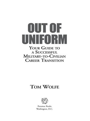 cover image of Out of Uniform