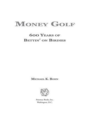 cover image of Money Golf