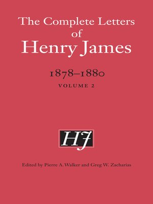 cover image of The Complete Letters of Henry James, 1878-1880
