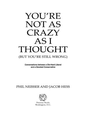 cover image of You're Not as Crazy as I Thought