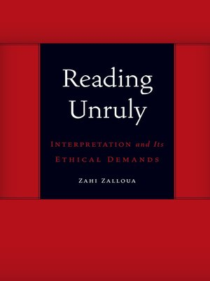 cover image of Reading Unruly