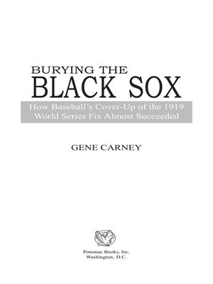 cover image of Burying the Black Sox