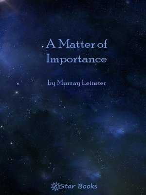 cover image of A Matter of Importance