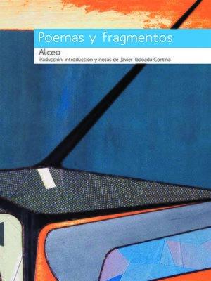 cover image of Alceo, Poemas y fragmentos