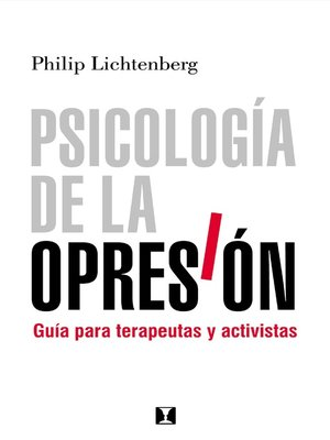 cover image of Psicología de la Opresión