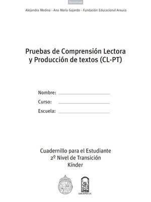 cover image of Cuadernillo (CL-PT) 2º Nivel transición Kinder