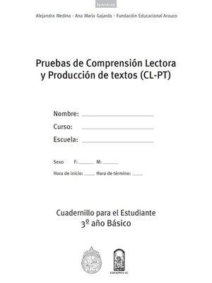 cover image of Cuadernillos (CL-PT) 3º Año Básico