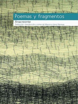 cover image of Anacreonte, Poemas y fragmentos