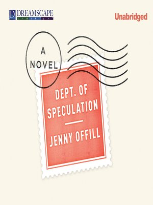 cover image of Dept. of Speculation