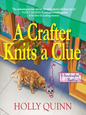 cover image of A Crafter Knits a Clue