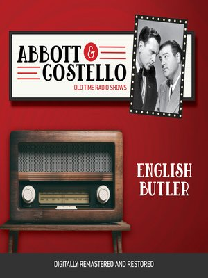cover image of Abbott and Costello: English Butler