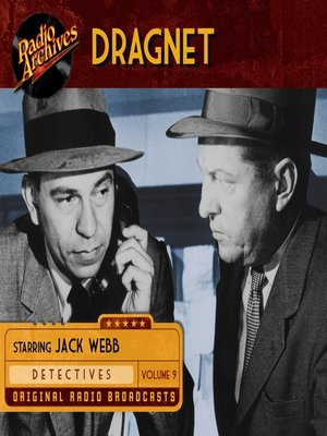 cover image of Dragnet, Volume 9
