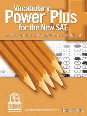 vocabulary power plus for the new sat book 3