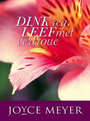cover image of Dink Reg, leef met vertroue
