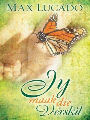 cover image of Jy maak die verskil