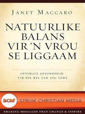 cover image of Natuurlike balans vir 'n vrou se liggaam
