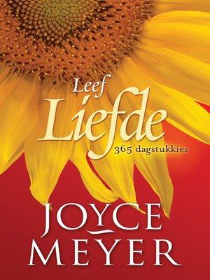 cover image of Leef liefde