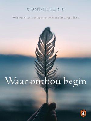 cover image of Waar onthou begin