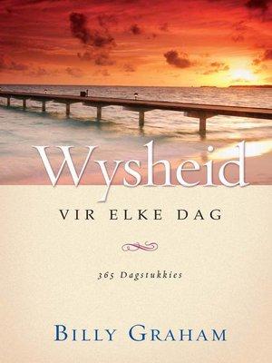 cover image of Wysheid vir elke dag