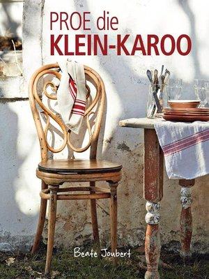cover image of Proe die Klein-Karoo