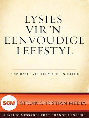 cover image of Lysies vir 'n eenvoudige leefstyl