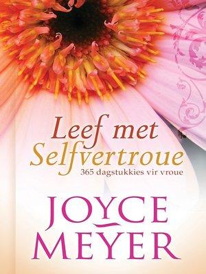 cover image of Leef met selfvertroue