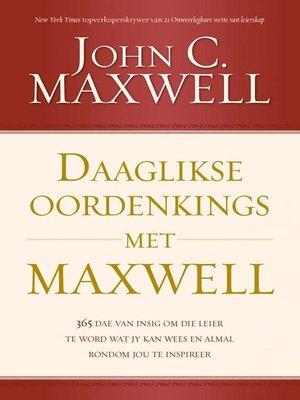 cover image of Daaglikse oordenkings met Maxwell