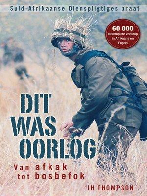 cover image of Dit was oorlog