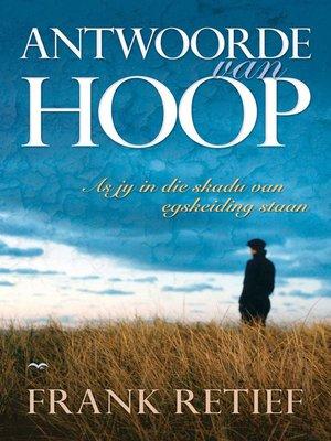 cover image of Antwoorde van hoop