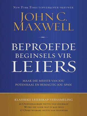 cover image of Beproefde beginsels vir leiers