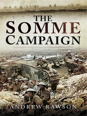 cover image of The Somme Campaign