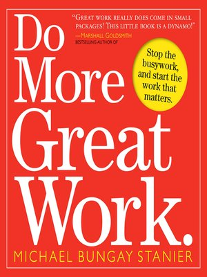 cover image of Do More Great Work.