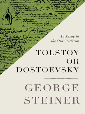 cover image of Tolstoy or Dostoevsky