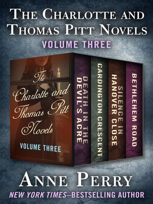 cover image of The Charlotte and Thomas Pitt Novels Volume Three